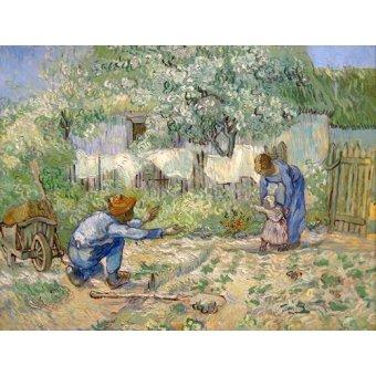 - Cuadro -Primeros pasos (after Millet).- - Van Gogh, Vincent