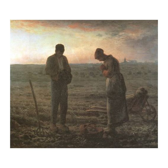 cuadros religiosos - Cuadro -El Angelus, 1857-1859-