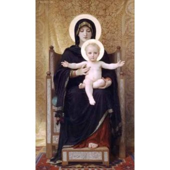 cuadros religiosos - Cuadro -La Virgen sentada- - Bouguereau, William