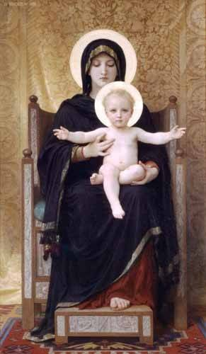 cuadros-religiosos - Cuadro -La Virgen sentada- - Bouguereau, William