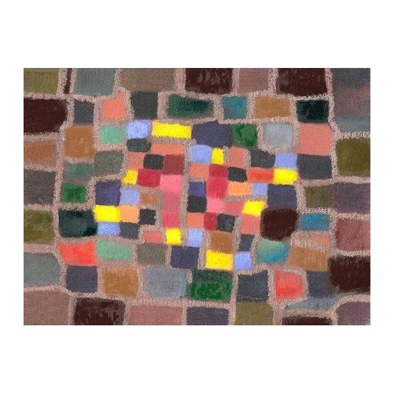 cuadros abstractos - Cuadro -Abstracto _ Laberinto y desnivel (I)-