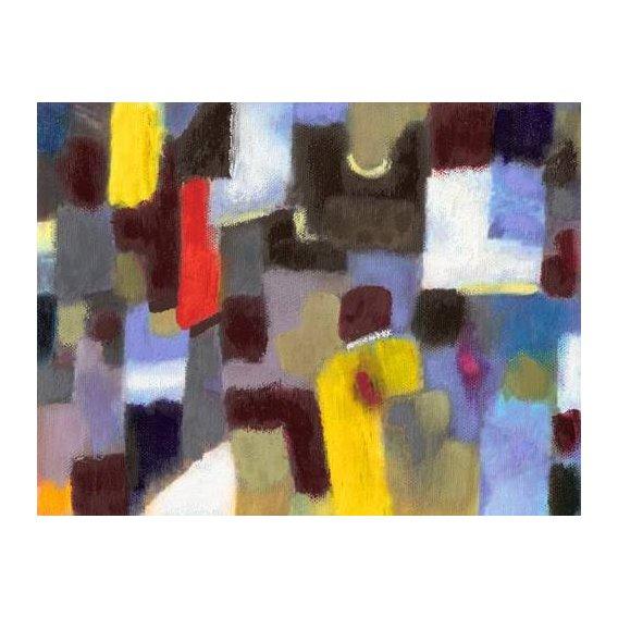 cuadros abstractos - Cuadro -Abstracto _ Pareja y urbe (I).-