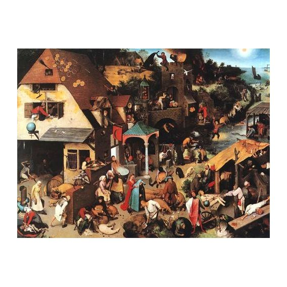 cuadros de retrato - Cuadro -The Netherlandish Proverbs-