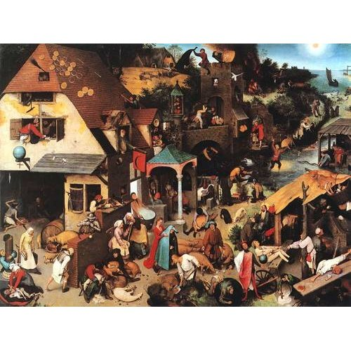 Cuadro -The Netherlandish Proverbs-