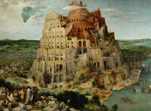 cuadros-religiosos - Cuadro -La Tour de Babel- - Bruegel