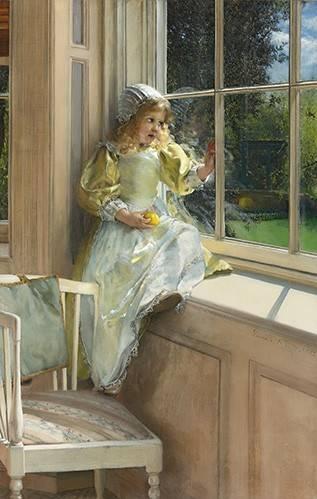 cuadros-de-retrato - Cuadro -Sunshine- - Alma-Tadema, Lawrence