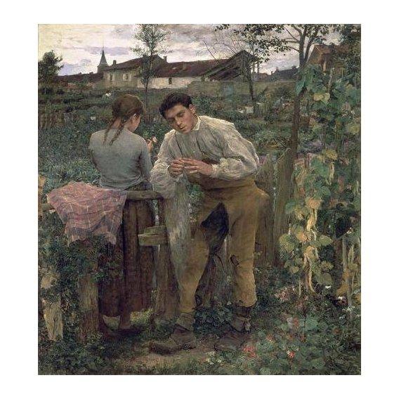 cuadros de retrato - Cuadro -Rural Love, 1882 (oil on canvas).-