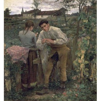 - Cuadro -Rural Love, 1882 (oil on canvas).- - Bastien Lepage, Jules