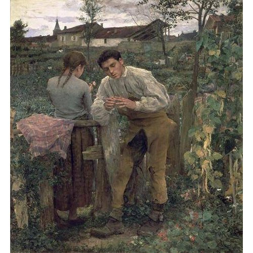 Cuadro -Rural Love, 1882 (oil on canvas).-