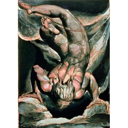 cuadros de retrato - Cuadro -The First Book of Urizen, Man floating upside down-
