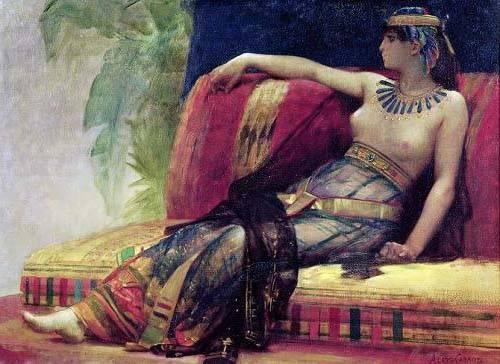 cuadros-de-retrato - Cuadro -Cleopatra (69-30 BC)- - Cabanel, Alexander