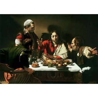cuadros religiosos - Cuadro -The Supper at Emmaus, 1601- - Caravaggio, Michelangelo M.
