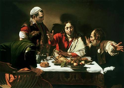 cuadros-religiosos - Cuadro -The Supper at Emmaus, 1601- - Caravaggio, Michelangelo M.