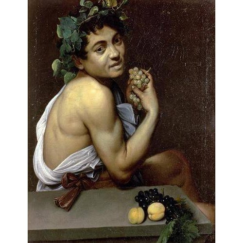 cuadros de retrato - Cuadro -The Sick Bacchus, 1591 (oil on canvas).-