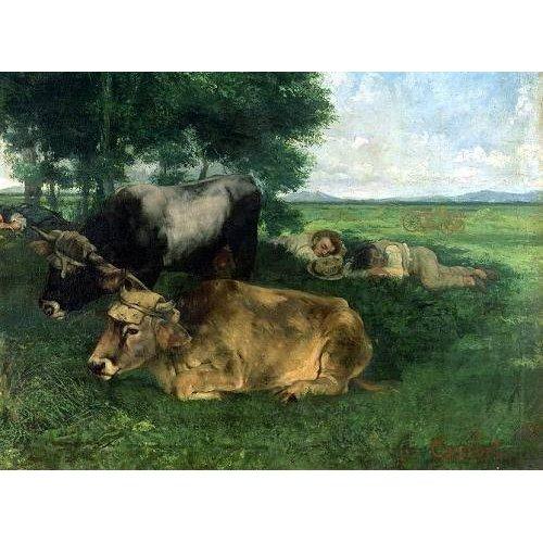 Cuadro -La Siesta Pendant la saison des foins, 1867-