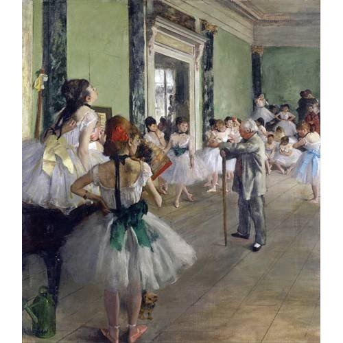 cuadros de retrato - Cuadro -The Dancing Class, c.1873-76 (oil on canvas).-