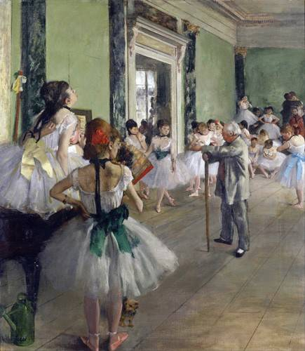 cuadros-de-retrato - Cuadro -The Dancing Class, c.1873-76 (oil on canvas).- - Degas, Edgar