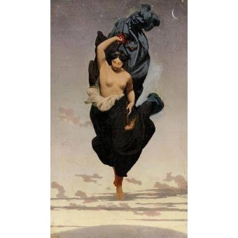 - Cuadro -Night, c.1850-55 (oil on canvas).- - Gerome, Jean Leon