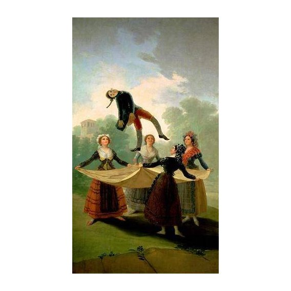 cuadros de retrato - Cuadro -El Pelele (The Puppet) 1791-2 (oil on canvas).-