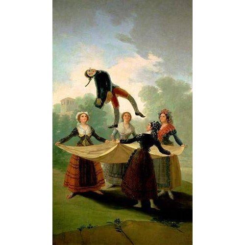 Cuadro -El Pelele (The Puppet) 1791-2 (oil on canvas).-