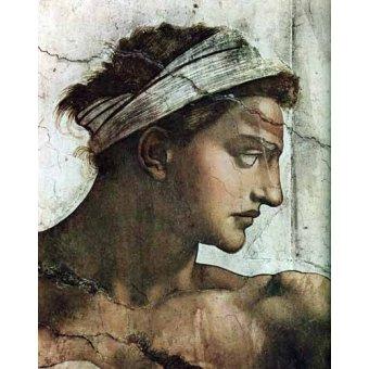 cuadros religiosos - Cuadro -Voute de la Chapelle Sixtine Couple au dessus- - Buonarroti, Miguel Angel