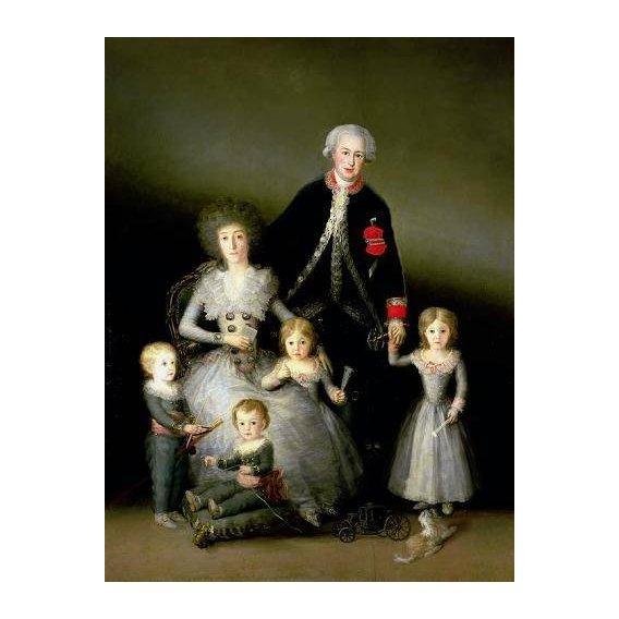 cuadros de retrato - Cuadro -El Duque de Osuna y su familia, 1788-