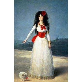 - Cuadro -La Duquesa de Alba, 1795- - Goya y Lucientes, Francisco de