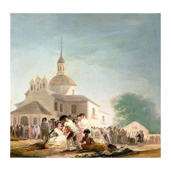 cuadros de paisajes - Cuadro -La Ermita de San Isidro, Madrid, 1788-