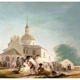 - Cuadro -La Ermita de San Isidro, Madrid, 1788- - Goya y Lucientes, Francisco de