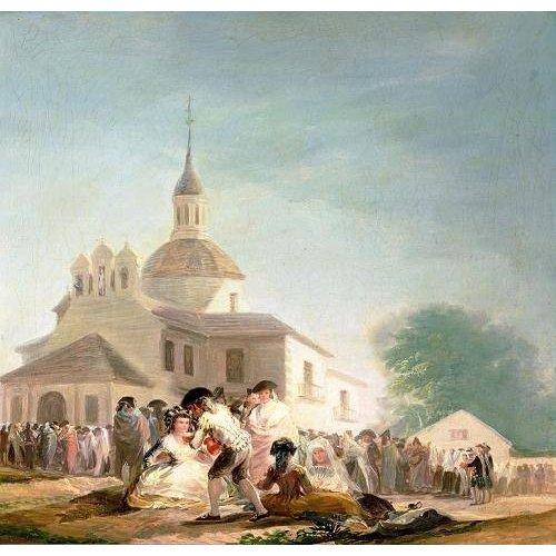 Cuadro -La Ermita de San Isidro, Madrid, 1788-