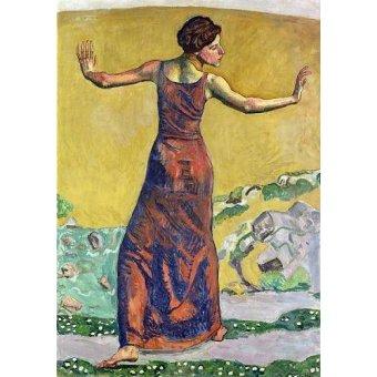 - Cuadro -Femme Joyeuse (oil on canvas).- - Hodler, Ferdinand
