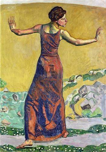 cuadros-de-retrato - Cuadro -Femme Joyeuse (oil on canvas).- - Hodler, Ferdinand