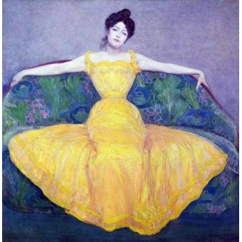 - Cuadro -Lady in a Yellow Dress, 1899- - Kurzweil, Max