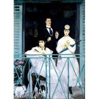 - Cuadro -The Balcony, 1868-9 (oil on canvas).- - Manet, Eduard