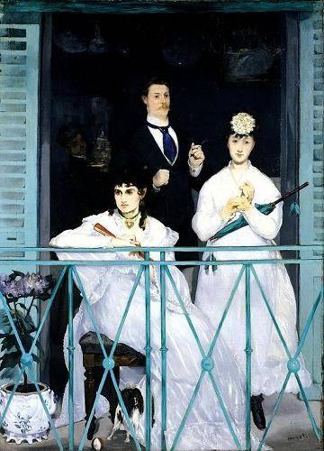 cuadros-de-retrato - Cuadro -The Balcony, 1868-9 (oil on canvas).- - Manet, Eduard