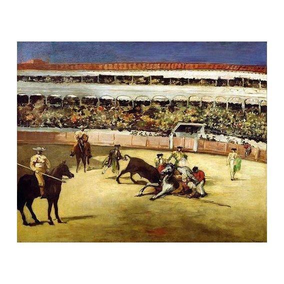 cuadros de fauna - Cuadro -Bull Fight, 1865 (Corrida de toros).-