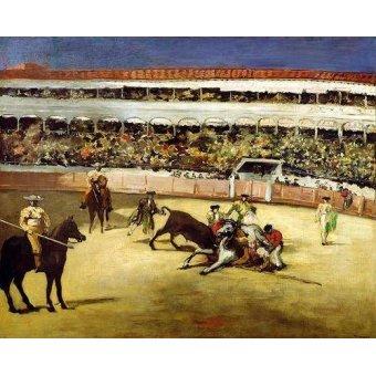 - Cuadro -Bull Fight, 1865 (Corrida de toros).- - Manet, Eduard