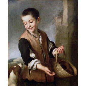 - Cuadro -Muchacho con un perro, c.1650- - Murillo, Bartolome Esteban