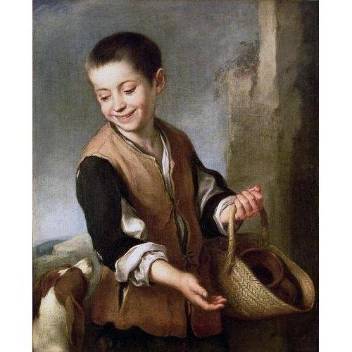 cuadros de retrato - Cuadro -Muchacho con un perro, c.1650-