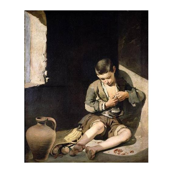 cuadros de retrato - Cuadro -El joven mendigo, c 1650-