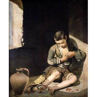 - Cuadro -El joven mendigo, c 1650- - Murillo, Bartolome Esteban