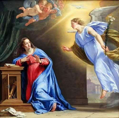 cuadros-religiosos - Cuadro -La Anunciación- - Champaigne, Philippe de