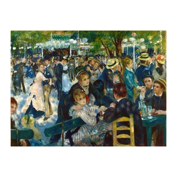 cuadros de retrato - Cuadro -Ball at the Moulin de la Galette, 1876-