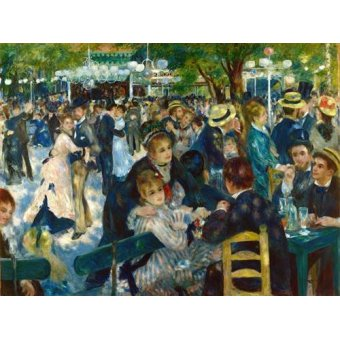 cuadros de retrato - Cuadro -Ball at the Moulin de la Galette, 1876- - Renoir, Pierre Auguste