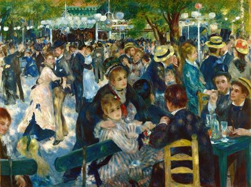 cuadros-de-retrato - Cuadro -Ball at the Moulin de la Galette, 1876- - Renoir, Pierre Auguste