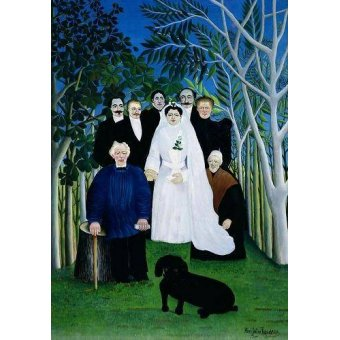 - Cuadro -The Wedding Party, 1904-05- - Rousseau, Henri