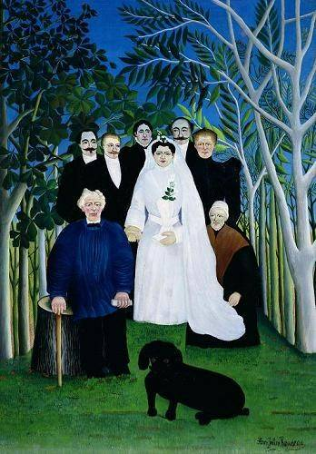 cuadros-de-retrato - Cuadro -The Wedding Party, 1904-05- - Rousseau, Henri