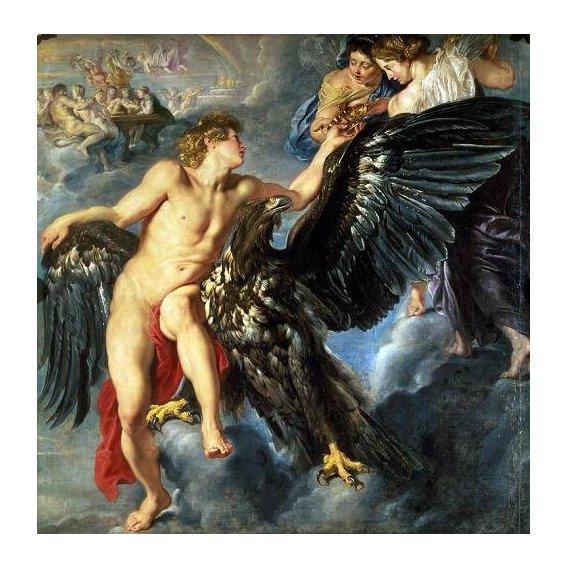 cuadros de retrato - Cuadro -The Kidnapping of Ganymede-