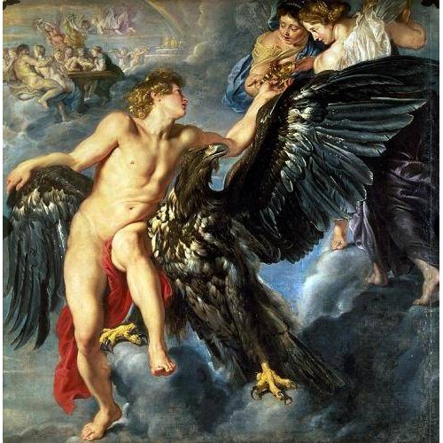 Cuadro -The Kidnapping of Ganymede-