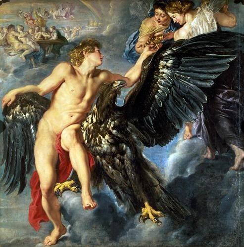 cuadros-de-retrato - Cuadro -The Kidnapping of Ganymede- - Rubens, Peter Paulus